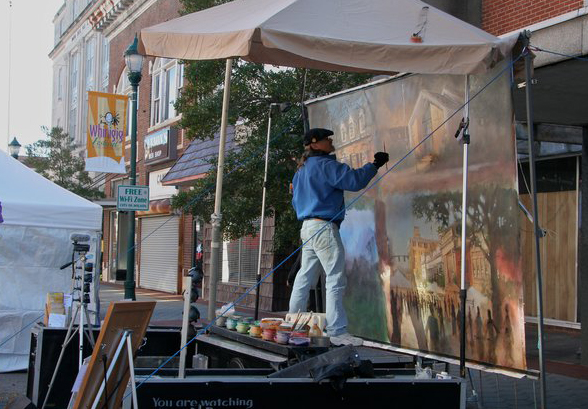 Go Big or Go Home. Interview with Plein Air Performance Painter Dan Nelson.